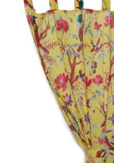Flora and Fauna and Fabulous Curtain in Yellow  Mod Retro Vintage Decor Accessories