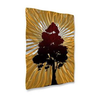 Tree Shadow by Ash Carl Original Painting on Metal Plaque by All My