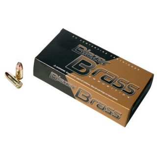 Blazer Brass Ammunition 50 Rounds 9MM Luger 124 gr. FMJ