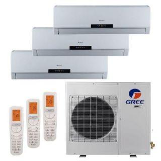 GREE Multi 21 Zone 24,000 BTU 2 Ton Ductless Mini Split Air Conditioner with Heat, Inverter, Remote   230 Volt/60Hz MULTI24HP301