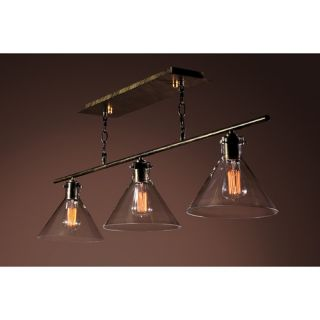 Amerie Edison 3 Light Kitchen Island Pendant by Warehouse of Tiffany