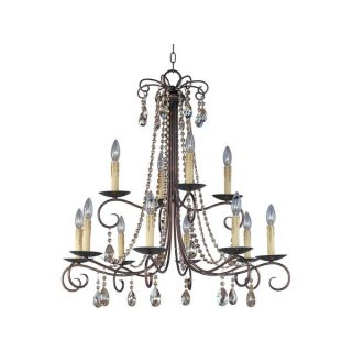 Adriana Rust 12 light Multi Tier Chandelier