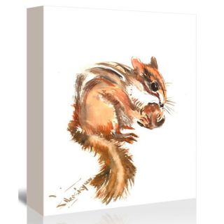 Chipmunk 2 Painting Print on Gallery Wrapped Canvas