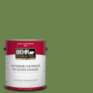 BEHR Premium Plus 1 gal. #430D 6 Happy Camper Hi Gloss Enamel Interior/Exterior Paint 830001