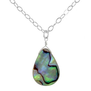 Ashanti Sterling Silver Aurora Mother of Pearl Handmade Necklace (Sri