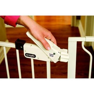 Regalo Easy Step 41 Inch Extra Tall Walk Through Baby Gate, Pressure Mount with Included Extension Kit