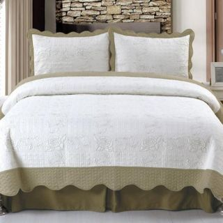 Somerset Home Embroidered Quilt Bedding Set Jeana