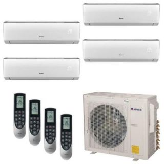 GREE Multi 21 Zone 30,000 BTU 2.5 Ton Ductless Mini Split Air Conditioner with Heat, Inverter, Remote   230 Volt/60Hz MULTI30HP400