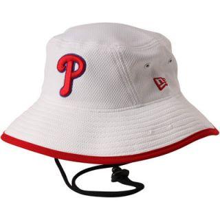 Philadelphia Phillies New Era Diamond Era Bucket Hat   White