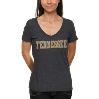 Alta Gracia (Fair Trade) Tennessee Volunteers Womens Jersey V Neck T Shirt   Black