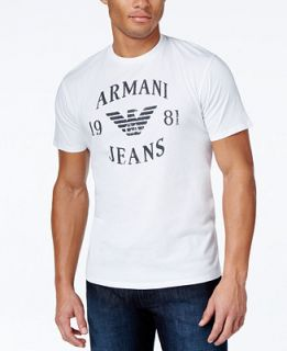 Armani Jeans Logo Eagle Tee   T Shirts   Men