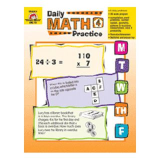 Daily Math Practice Grade 4 Book
