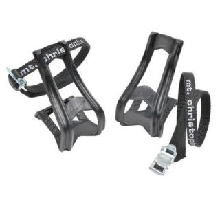 Zefal 43 + 515 Bicycle Pedal Toe Clips and Straps (L/XL)