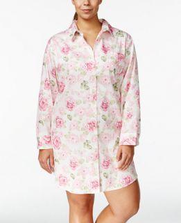 Lauren Ralph Lauren Plus Size Rose Print Sleepshirt   Bras, Panties