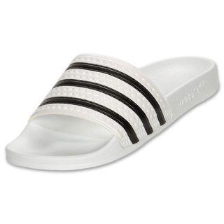 7280f63b1e95 Mens adidas Adilette Slide Sandals White Black on PopScreen