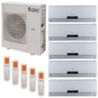 GREE Multi 21 Zone 42,000 BTU 3.5 Ton Ductless Mini Split Air Conditioner with Heat, Inverter, Remote   208 230 Volt/60Hz MULTI42HP500