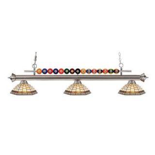 Filament Design Kerstin 3 Light Brushed Nickel Billiard Light CLI JB048667