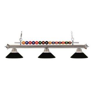Filament Design Kerstin 3 Light Brushed Nickel Billiard Light CLI JB048575