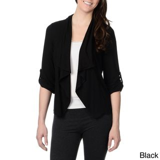 Chelsea & Theodore Womens Open Front Trapeze Cardigan