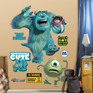 Monsters Inc Giant Mike Wazowski Peel and Stick Wall Decals   14973632