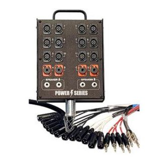 Whirlwind 150 Box to Fan Medusa Power Snake Cable, 12 XLR Input, 1/4 Returns MP 8 150