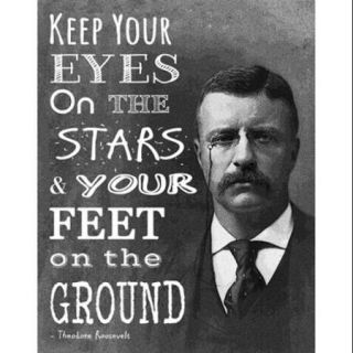 Keep Your Eyes On the Stars and Your Feet On the Ground   Theodore Roosevelt Poster Print by Veruca Salt (11 x 14)