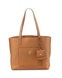 eae34815e477 ... Leather Tote Bag  Prada Medium Vitello Diano Open Tote Bag