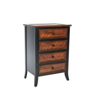 Home Decorators Collection Shannon Drawer Side Table in Black AMH4034A