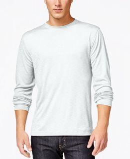 Tasso Elba Performance Sun Protection Ribbed Long Sleeve T Shirt   T