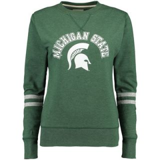 Michigan State Spartans Alta Gracia (Fair Trade) Womens Relaxed Fit Rosaura Pullover Fleece Sweatshirt   Green