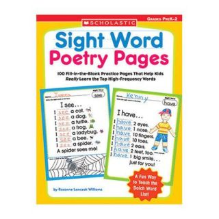 Scholastic Sight Word Poetry Pages Book