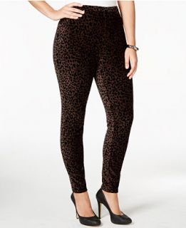 Style & Co. Plus Size Animal Printed Corduroy Stretch Leggings, Only