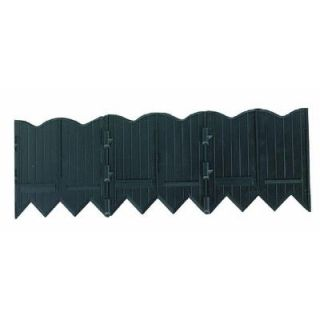 Master Mark Border Master 20 ft. Recycled Plastic Poundable Landscape Lawn Edging with Connectors Black 97220