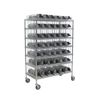 GROVE Mobile Bottle Cart,Maximum 42 Bottles   SCBA Accessories   20AT62|MBR 42
