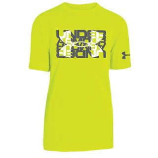 Under Armour Graphic S/S T Shirt   Boys Grade School   Casual   Clothing   Navy Seal/Metallic Gold