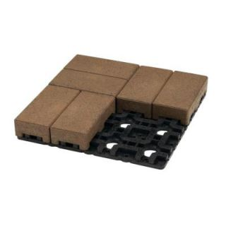 AZEK 4 in. x 8 in. Olive Composite Standard Paver Grid System (8 Pavers and 1 Grid) C048 007