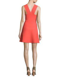 A.L.C. Ali Sleeveless Stretch Jersey Mini Dress, Guava
