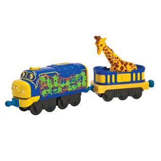 Tomy Chuggington StackTrack Camouflage Brewster with Giraffe Car
