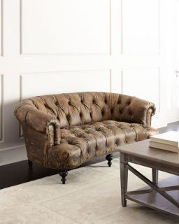 Old Hickory Tannery Carson Tufted Leather Sofa