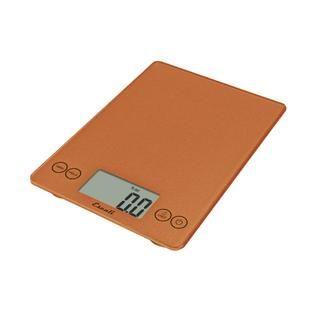 Escali Arti Glass Digital Scale, 15 Lb / 7 Kg, Cinnamon   Home