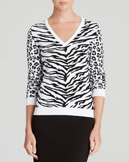 Moschino Cheap And Chic Pullover   Tiger & Leopard Print