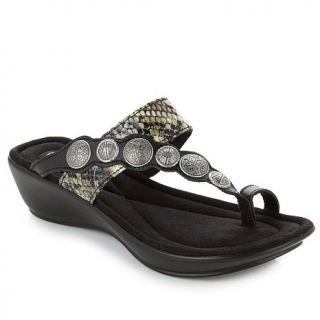 Minnetonka Keystone Toe Ring Sandal with Ornaments   7936655