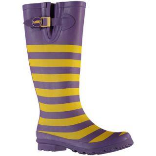 LSU Tigers Lillybee U Womens Rain Boots with Logo Snap