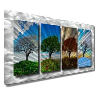 Four Seasons by Ash Carl Original Painting on Metal Plaque by All My