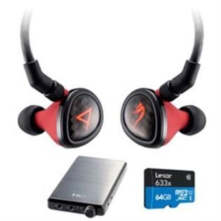 Astell Kern Special Edition Angie II Headphones by JH Audio Red w