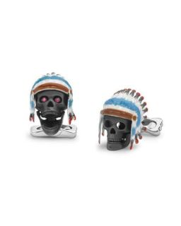 Deakin & Francis Headdress Skull Cuff Links