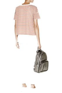 Dixie striped cotton and modal blend top  Kain