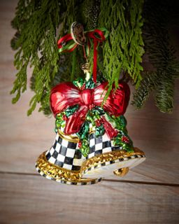 MacKenzie Childs Noel Bells Christmas Ornament