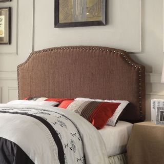 Furniture of America Emira Adjustable Brown Flax Upholstered Headboard