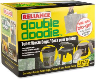 Reliance Double Doodie Waste Bags with Bio Gel